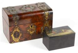 RUSSIAN LACQUERED TEA CADDY