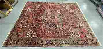 ANTIQUE PERSIAN HERIZ ROOM-SIZE ORIENTAL RUG / CARPET