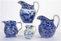 ENGLISH STAFFORDSHIRE BLUE TRANSFER-PRINTED CERAMIC