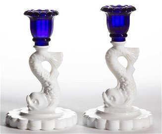 EXTREMELY RARE SMALL DOLPHIN SCALLOP BASE PAIR OF