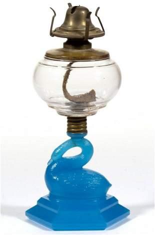 ATTERBURY SWAN KEROSENE STAND LAMP
