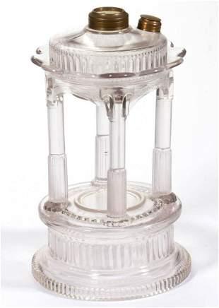 ADAMS TEMPLE / APPLESAUCE KEROSENE STAND LAMP