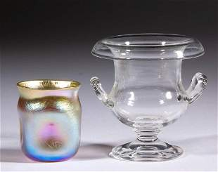ASSORTED GLASS TOOTHPICK HOLDERS, LOT OF TWO