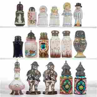 ASSORTED CERAMIC SALT / PEPPER SHAKERS, LOT OF 17