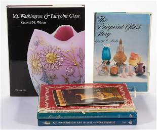 ASSORTED GLASS REFERENCE VOLUMES, LOT OF SIX