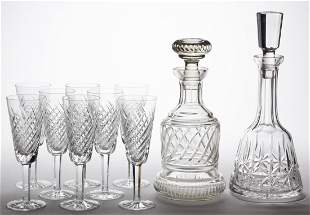 ASSORTED WATERFORD CUT CRYSTAL DRINKING ARTICLES, LOT