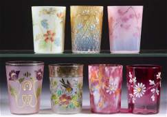 ASSORTED VICTORIAN GLASS TUMBLERS, LOT OF SEVEN