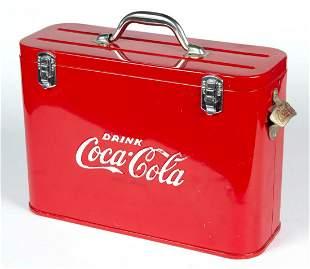VINTAGE COCA-COLA METAL ADVERTISING AIRLINE COOLER