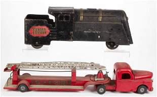VINTAGE AMERICAN METAL VEHICLES / TOYS, LOT OF TWO