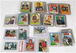 VINTAGE 1950'S AND 1960'S FOOTBALL CARDS, LOT OF 64