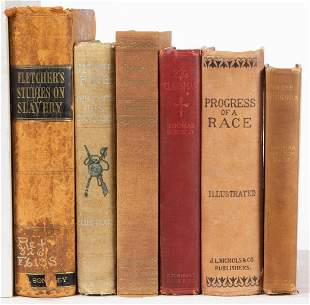 ANTIQUARIAN AFRICAN-AMERICAN HISTORICAL VOLUMES, LOT OF