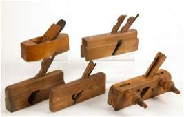 AMERICAN WOODEN MOLDING PLANES, LOT OF FIVE