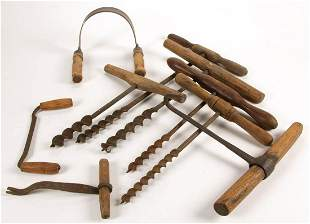 AMERICAN ANTIQUE TOOLS, LOT OF EIGHT
