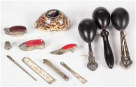 ASSORTED STERLING SILVER AND OTHER SEWING /