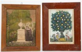 CURRIER  IVES RELIGIOUS AND MOURNING PRINTS LOT OF