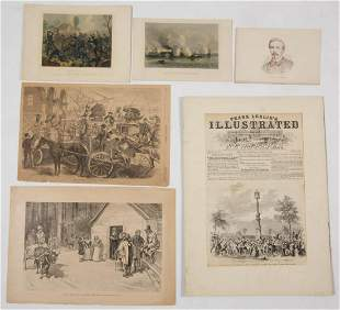 ASSORTED CIVIL WAR PRINTS, LOT OF 17