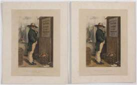 AMERICAN IMMIGRANT HISTORICAL PRINTS, LOT OF TWO