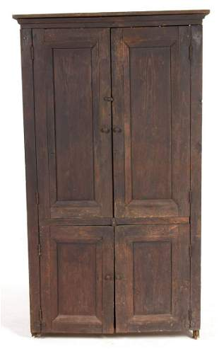 SOUTHERN PAINTED YELLOW PINE FLAT-WALL CUPBOARD