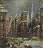AMERICAN SCHOOL (20TH CENTURY) NEW YORK CITY WINTER