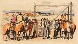 FRED LUDEKENS (AMERICAN, 1900-1982) ORIGINAL