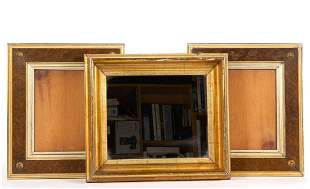 PAIR OF GILT AND BURL VENEER PICTURE FRAMES