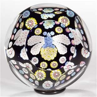 VINTAGE WHITEFRIARS MILLEFIORI BUMBLE BEE ART GLASS
