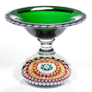 VINTAGE SAINT-LOUIS CONCENTRIC MILLEFIORI ART GLASS