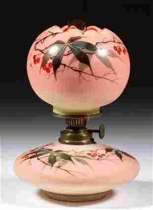 SIGNED WEBB DECORATED BURMESE MINIATURE LAMP