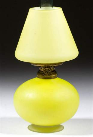 CASED SATIN GLASS MINIATURE LAMP