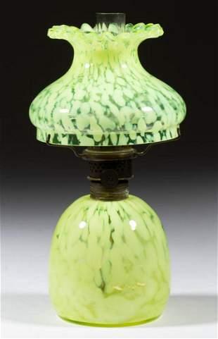 SPATTER GLASS MINIATURE LAMP