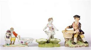 ENGLISH / GERMAN PORCELAIN HAND-PAINTED FIGURAL OPEN