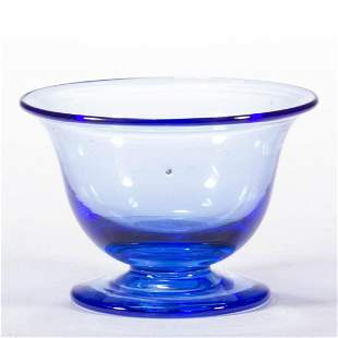 STEUBEN ATTRIBUTED ART GLASS FOOTED OPEN SALT