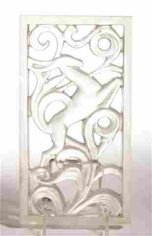 STEUBEN ATTRIBUTED LIGHTING GRILLE ART DECO ART GLASS