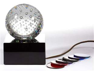 STEUBEN CONTROLLED-BUBBLE ART GLASS LUMINOR