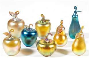 LUNDBERG STUDIOS IRIDESCENT STUDIO ART GLASS FIGURES /