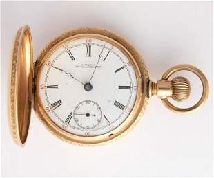 WALTHAM 14K GOLD CASE 15-JEWEL MODEL 1883 POCKET WATCH