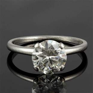 VINTAGE JABEL PLATINUM AND 1.84 CARAT DIAMOND LADY'S