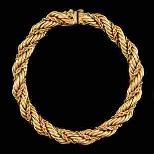 VINTAGE TIFFANY & CO. 14K YELLOW GOLD ROPE CHAIN