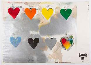 JIM DINE (AMERICAN, B. 1935) EIGHT HEARTS PRINT