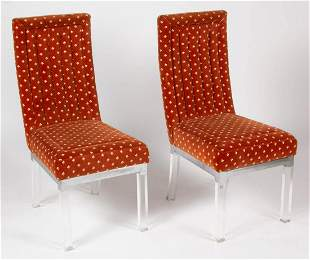 PAIR OF MID-CENTURY MODERN LUCITE CHAIRS