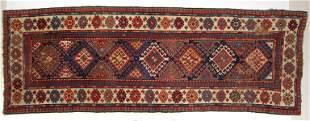 ANTIQUE CAUCASIAN KAZAK TRIBAL RUG / RUNNER