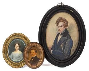 AMERICAN OR BRITISH SCHOOL (19TH CENTURY) PORTRAITS,