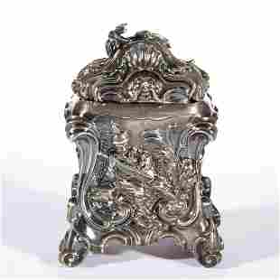 GEORGIAN ENGLISH REPOUSSE AND CHASED STERLING SILVER