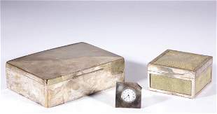 ENGLISH AND CONTINENTAL STERLING AND 0.900 SILVER DESK