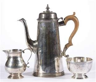 ENSKO COLONIAL-REPRODUCTION STERLING SILVER THREE-PIECE