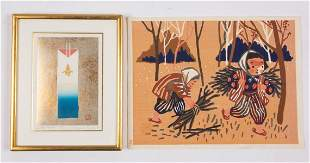 JAPANESE WOODBLOCK PRINTS, LOT OF TWO