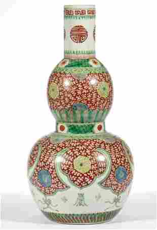 CHINESE EXPORT PORCELAIN WUCAI / FAMILLE VERTE DOUBLE