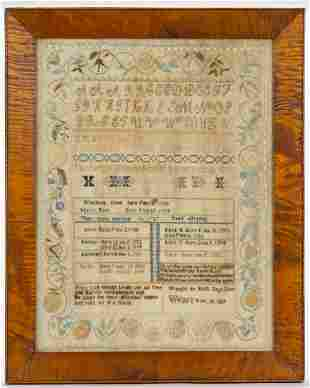 WEARE, NEW HAMPSHIRE, DOW FAMILY RECORD NEEDLEWORK