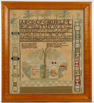 HAVERHILL, MASSACHUSETTS MEMORIAL NEEDLEWORK SAMPLER