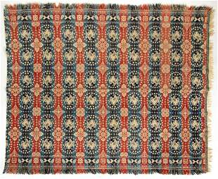 """OHIO ATTRIBUTED """"SILVER DOLLAR"""" JACQUARD COVERLET"""